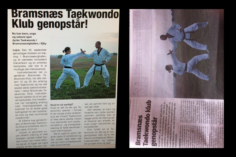 Vores første avis artikel