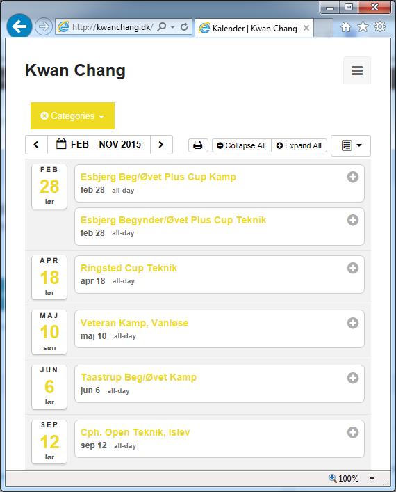 Kwan Chang kalenderen er opdateret