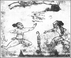 Antikke indgraveringer og hulemalerier fundet i Korea viser kæmpere i positurer vi kender fra nutidens Taekwondo
