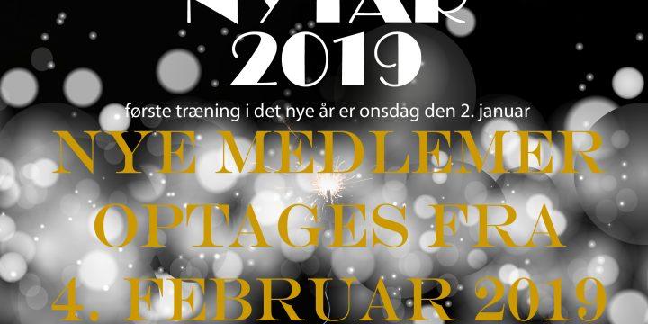 Nye medlemmer optages fra 4. februar 2019